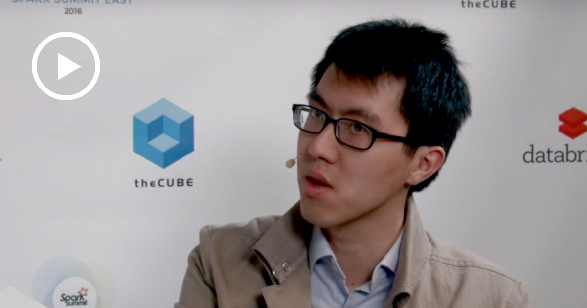 Thumbnail for Reynold Xin Interview at Spark Summit East 2016
