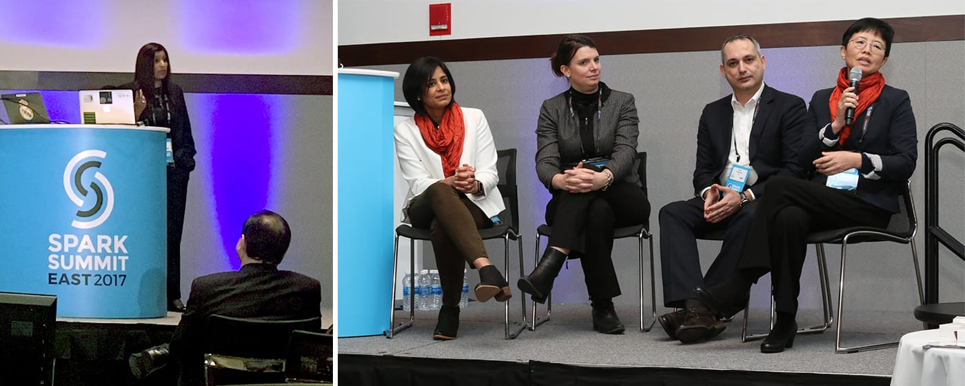 Kavitha Mariappan gave a keynote at the Women in Big Data panel.