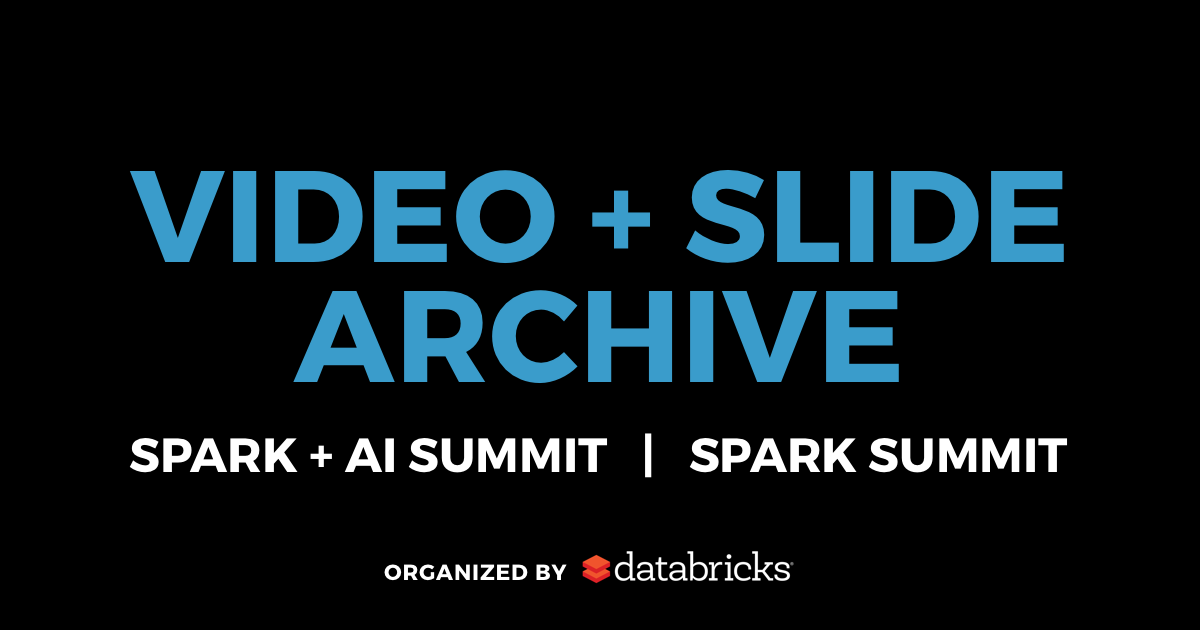 Sessions | Artificial Intelligence & Apache Spark Conference
