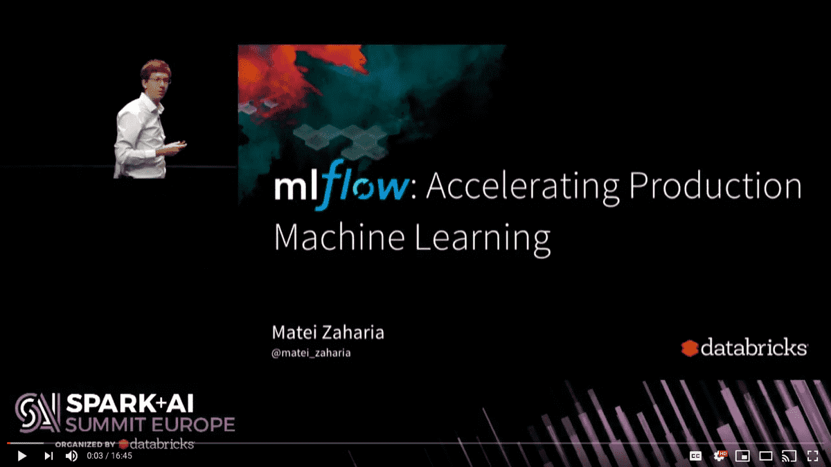 mlflow: Accelerating Production Machine Learning