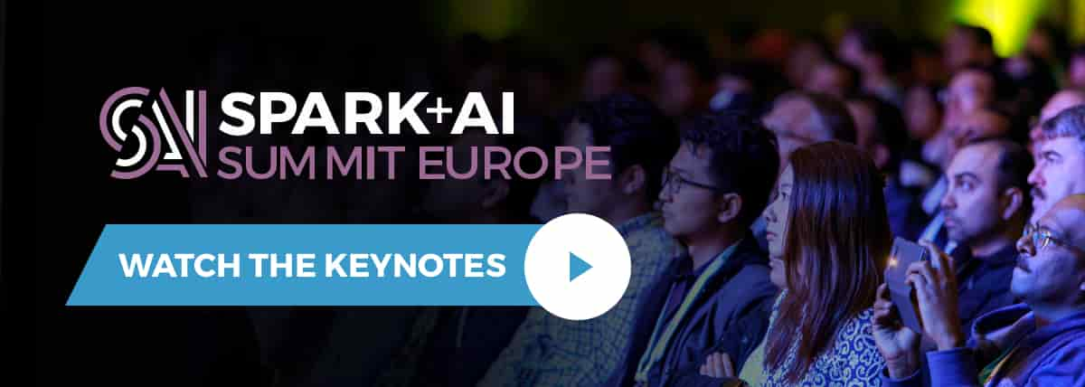 Thumbnail for 2018 October Newsletter: Watch Spark + AI Summit Keynotes