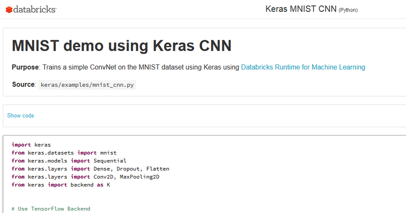 MNIST demo using Keras CNN (Part 1)