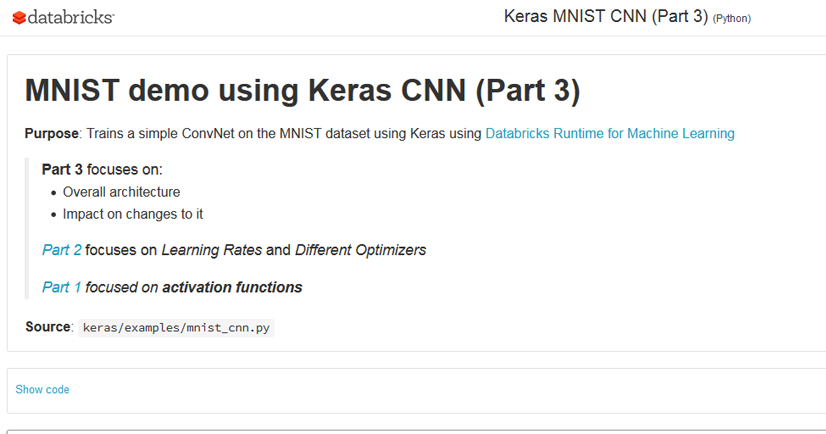 MNIST demo using Keras CNN (Part 3)