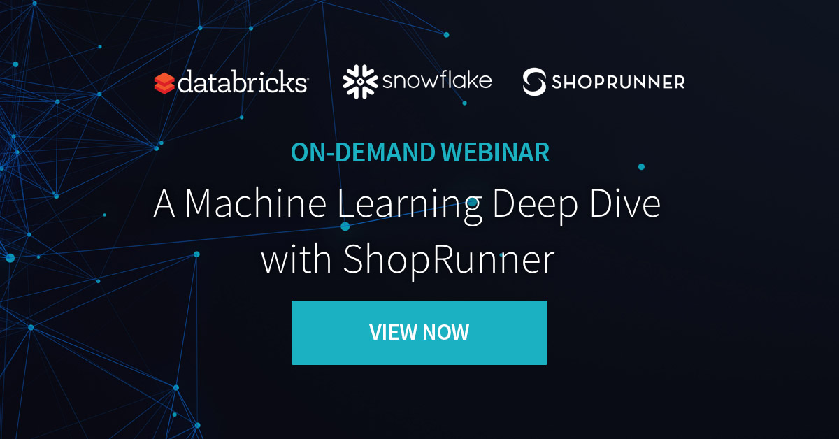 Bringing machine learning and data together for repeatable success at ShopRunner