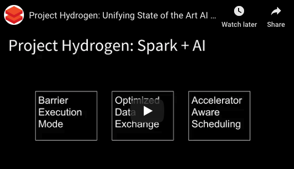 Project Hydrogen: Unifying State-of-the-Art AI and Big Data in Apache Spark