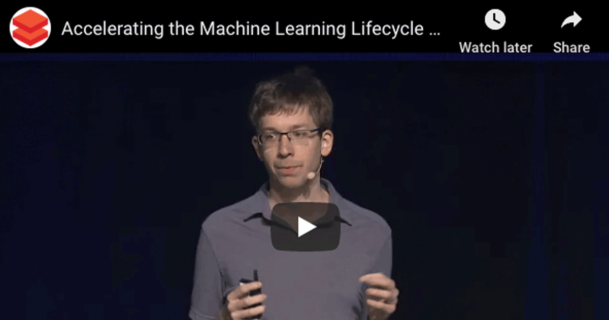 Accelerating the Machine Learning Lifecycle with MLflow 1.0