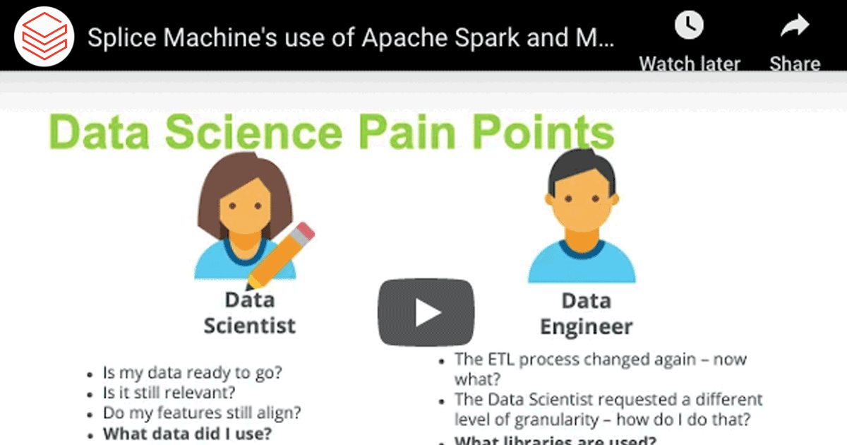 Splice Machine's use of Apache Spark and MLflow