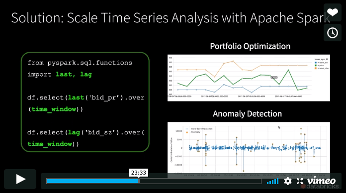 Scale Financial Time Series Analysis with Apache Spark