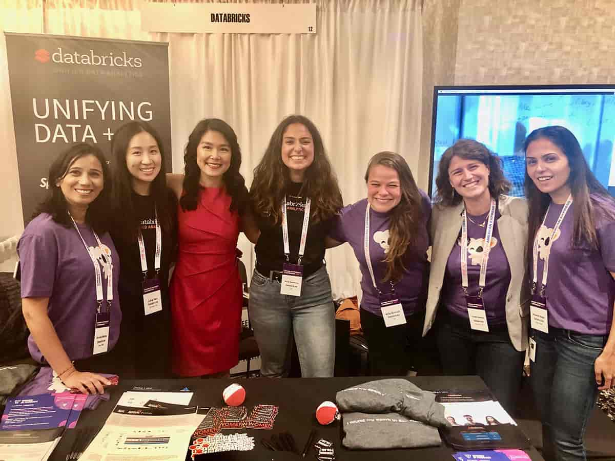 Databricks team members that participated in the 2019 Women in Product Conference