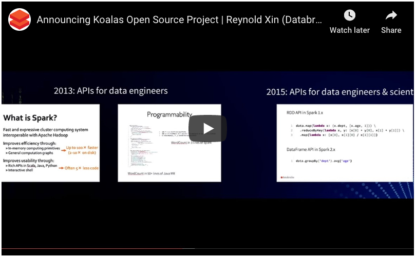 Announcing Koalas Open Source Project webinar