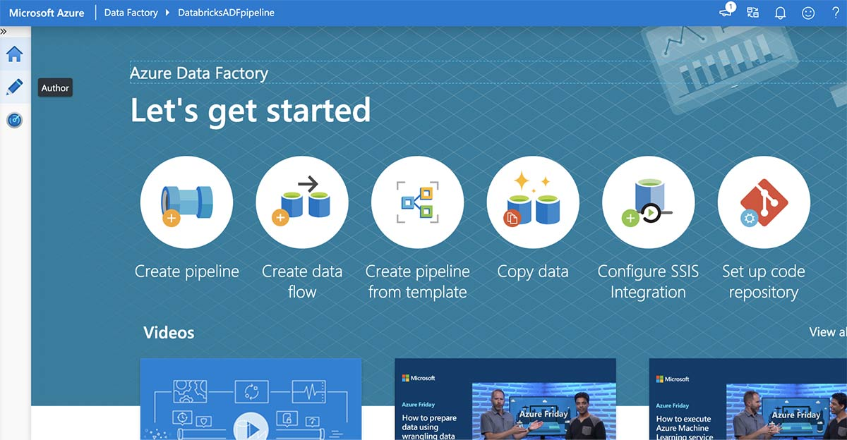 Azure Data Factory Let's get started