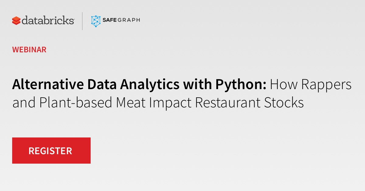 Thumbnail for Alternative Data Analytics with Python: How Rappers and Plant-based Meat Impact Restaurant Stocks