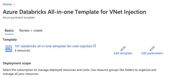 Azure Databricks all-in-one template for VNet Injection