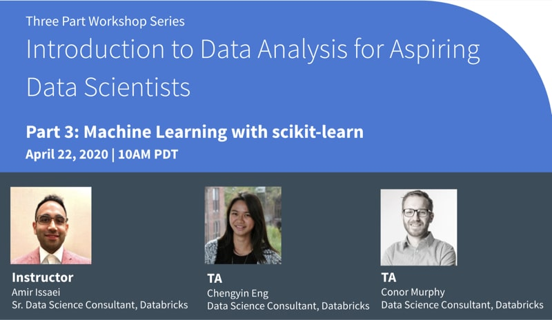 Machine Learning with scikit-learn workshop focuses on the techniques of applying and evaluating machine-learning methods, rather than the statistical concepts behind them.