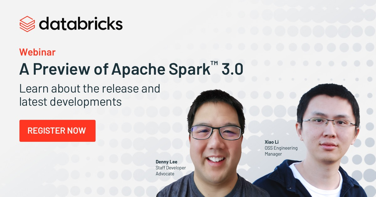 Thumbnail for A preview of upcoming  Apache Spark™ 3.0 Launch