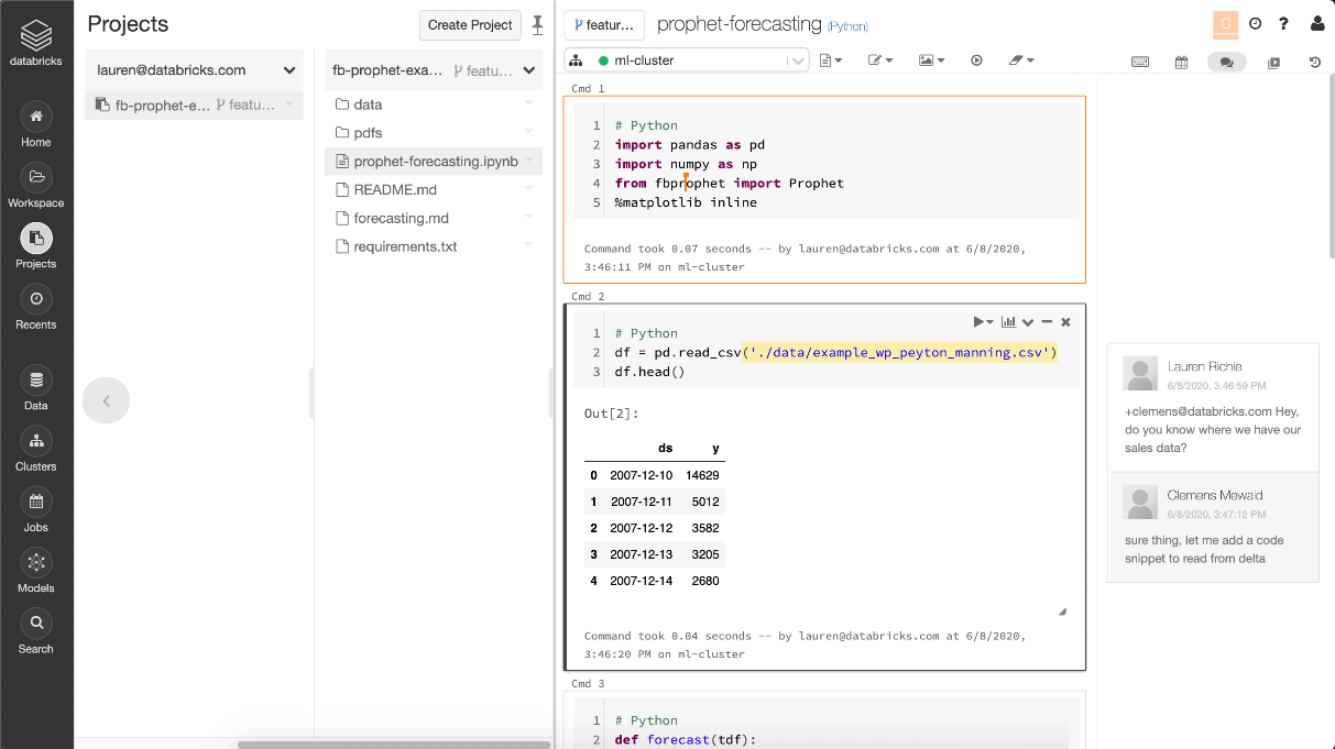 Support for opening Jupyter notebooks with the Databricks Notebook Editor  provides data teams with collaborative features for standard file formats.