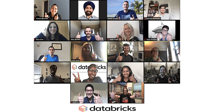 Members of Databricks Queries Network Employee Resource Group celebrate Pride Month.