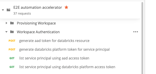 Access to and authentication for Azure Databricks APIs are provided by the AAD access and Azure Databricks Personal Access tokens.