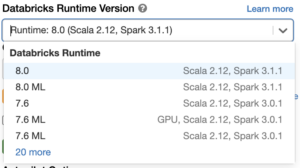 Sign up for a free Databricks trial account to try Apache Spark 3.1 and Databricks Runtime 8.0