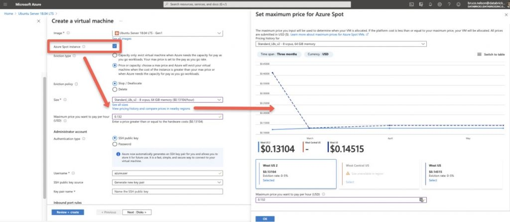 Historical pricing for Azure Spot VMs