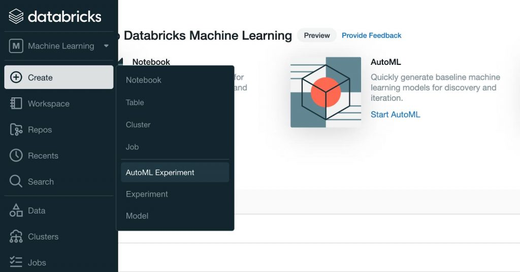 Databricks AutoML is now in Public Preview and is part of the Databricks Machine Learning experience.