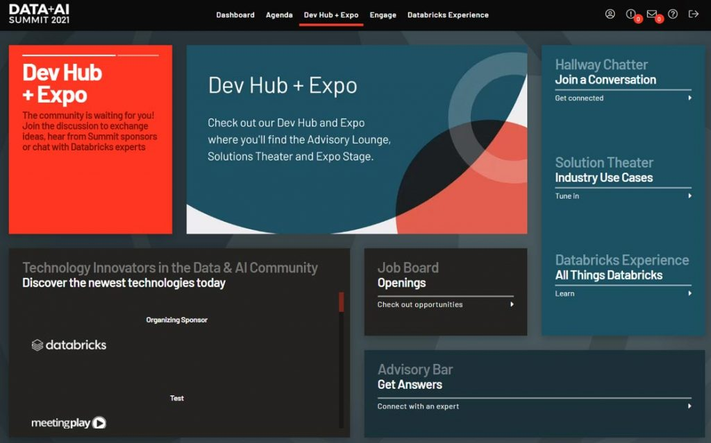 Sample Dev Hub and Expo available to attendees of Data + AI Summit