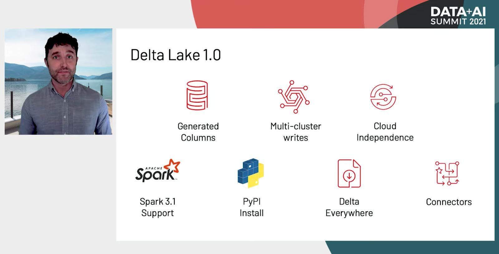 Delta Lake 1.0 announcement from the Wednesday AM Keynote