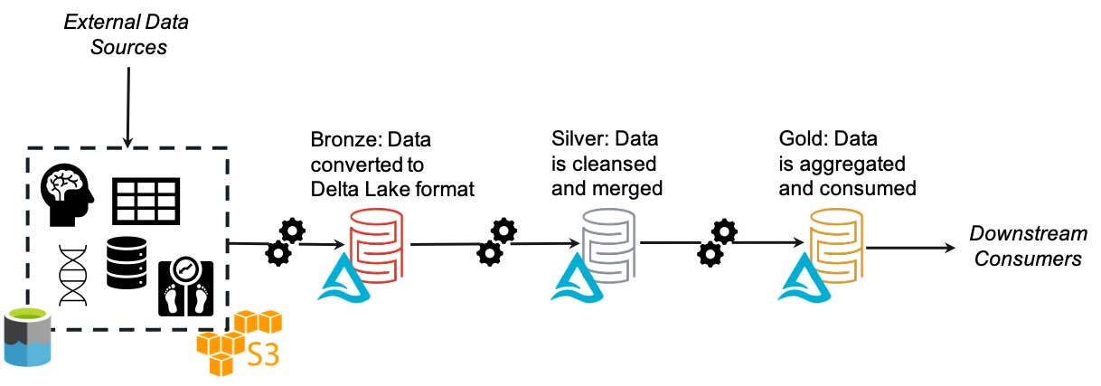 The lakehouse solves the FAIR principle of being machine-readable by transforming all data to the Delta Lake format.